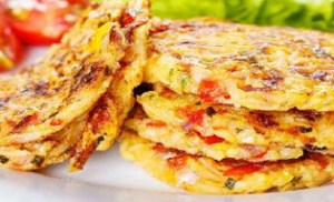Tomato Omlette with Paneer
