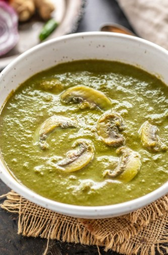 Instant Pot Palak Mushroom - Cook With Manali