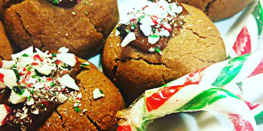 Christmas Chocolate Peppermint Cookies with Candy Canes