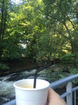 Tim Wendelboe iced coffee by the river in Oslo