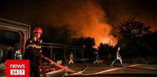 Φωτιά-στην-Βαρυμπόμπη:-:-Εκτός-λειτουργίας-αντλιοστάσιο-της-ΕΥΔΑΠ-–-Ποιες-περιοχές-επηρεάζονται