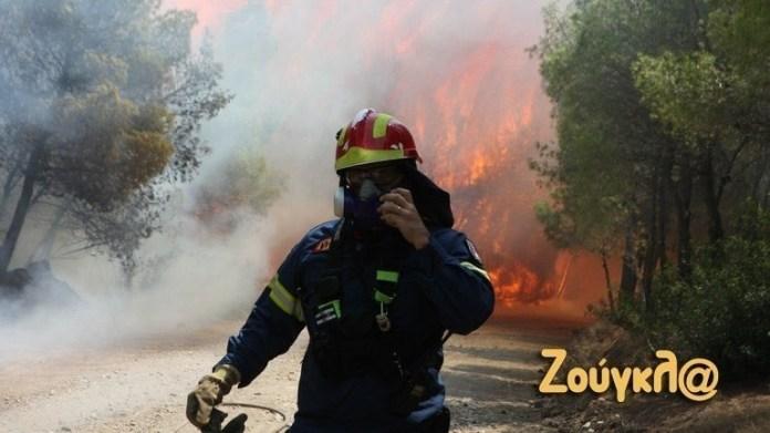 Κυκλοφοριακές-ρυθμίσεις-σε-Βίλια-και-Κερατέα-λόγω-πυρκαγιών