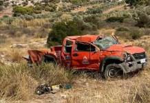 Λαύριο:-Πυροσβέστες-που-πήγαιναν-σε-φωτιά-τραυματίστηκαν-σε-τροχαίο-–-Σμπαράλια-το-αυτοκίνητο!-(φωτό)