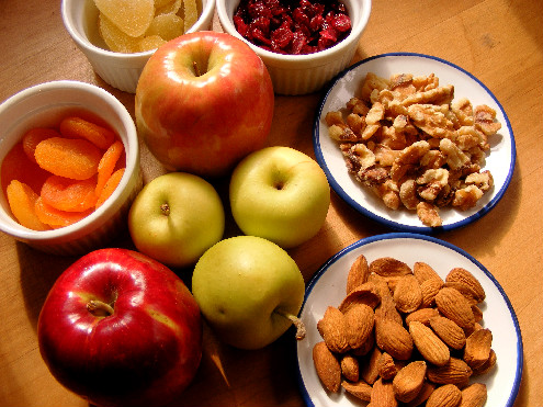 SWEAT by SlimClip Case Charoset_Apples-Nuts-Dried-Fruit-Salad-ForkFingersChopsticks.com_ Time for a Snack!