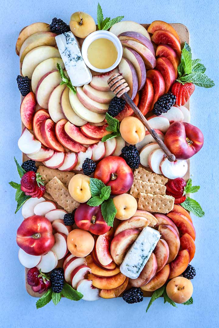 Summer Stone Fruit Cheese Platter