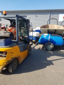 Forklift and operator