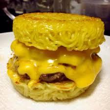 ramen burger cheese