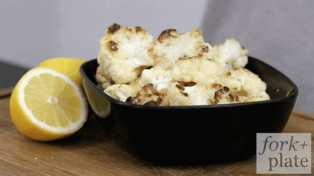 Parmesan Lemon Roasted Cauliflower