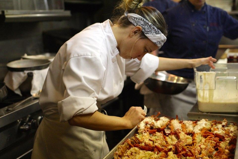 Davina Cooking Lobster
