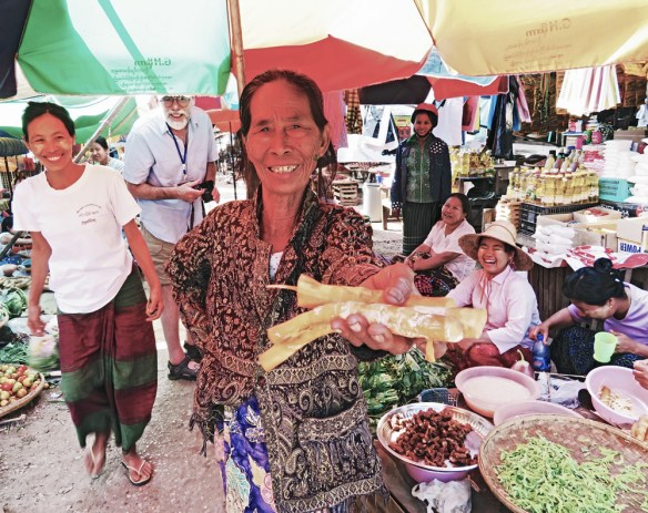 fun at the market Amawaterways Cruise Myanmar
