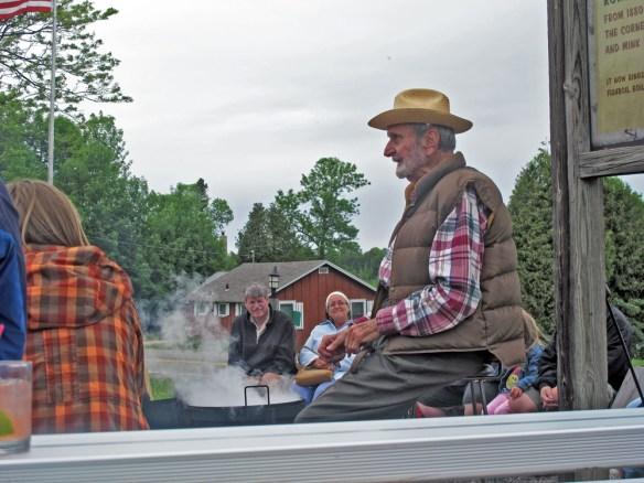 Door County Fish Boil Don Makuen tells stories