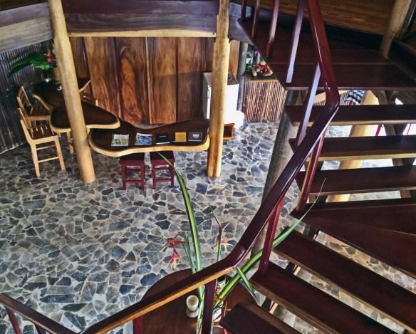 Interior stairs Macaw Lodge Costa Rica
