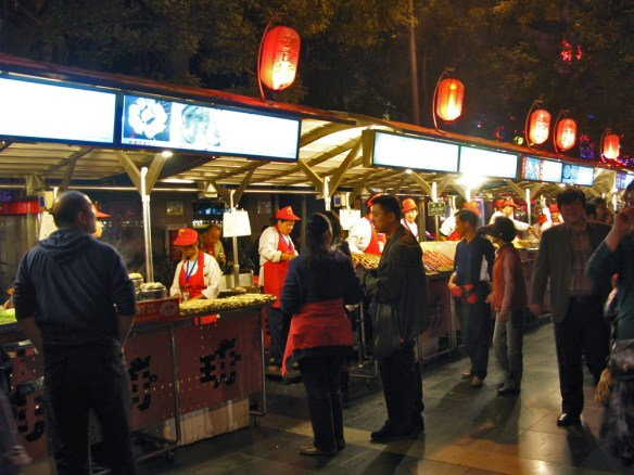 Beijing Night Market - couples strolling the market