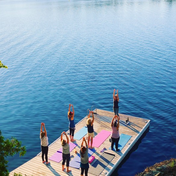 Finding Our Muskoka Soul -yoga on the dock