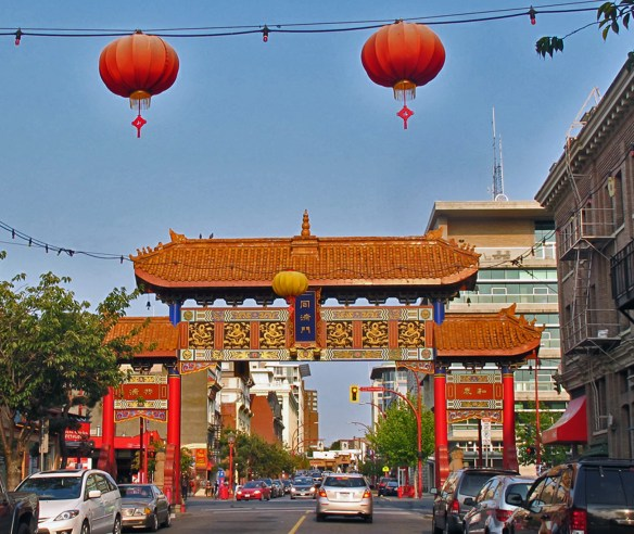 The Gate of Harmonious Interest in Chinatown - Bikes and Brews - Victoria, BC