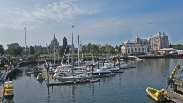 the harbour at Victoria - Bikes and Brews - Victoria, BC