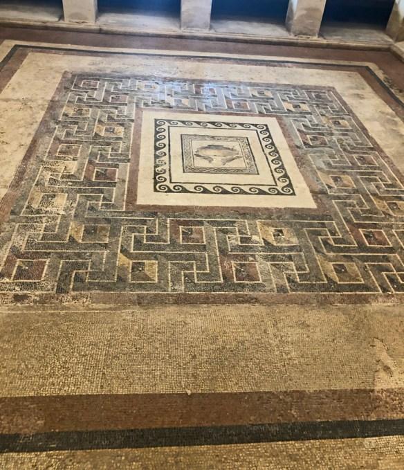 Mosaic tiled floor