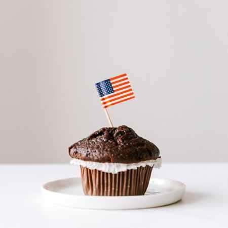 food week JUNE 28 independence day cupcake