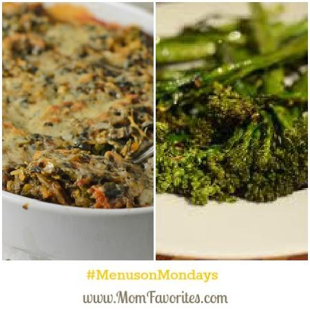 squash and broccolini