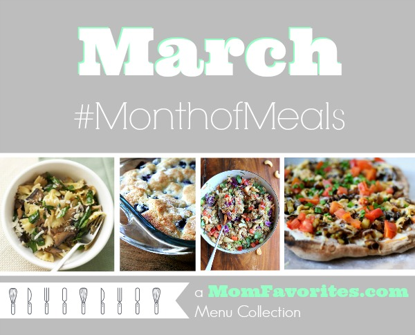 march recipes for the month
