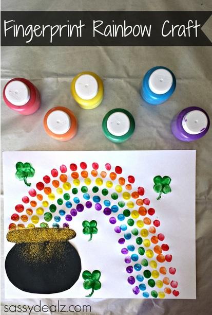 st patricks day 3 rainbow fingerprint