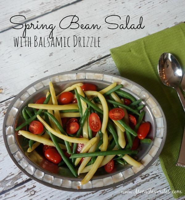 Spring Bean Salad w Balsamic Glaze