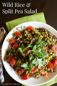 Wild Rice and Split Pea Salad