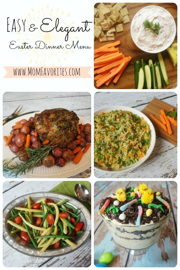 easter dinner menu collage