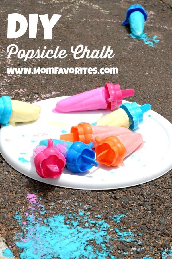 popsicle chalk melting