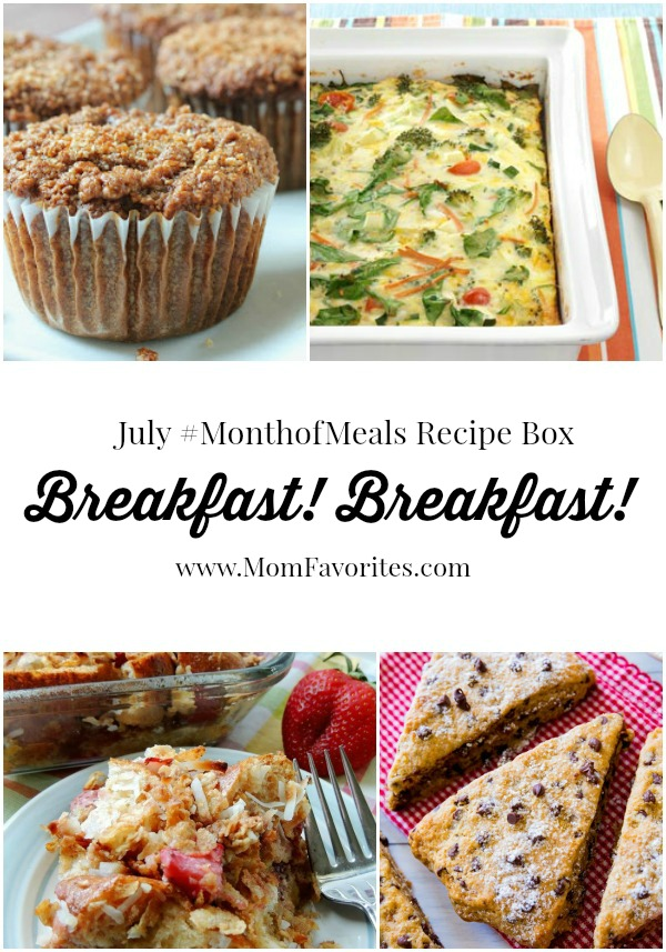 breakfast recipes for july