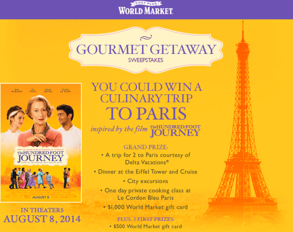Gourmet Getaway with World Market