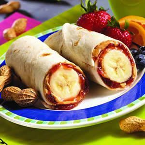 PB&J banana burrito