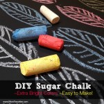 DIY Sugar Chalk, a recipe for Summer FUN!