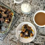 Pound Cake Bread Pudding with Salted Caramel Drizzle