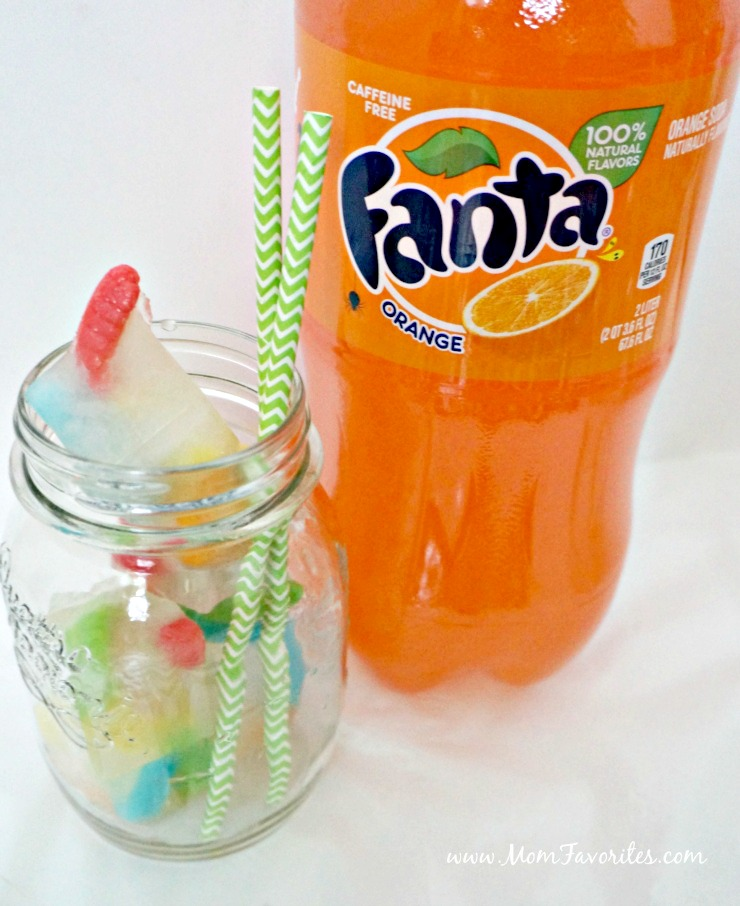Create these simple spooky ice cubes and serve with Fanta Orange Soda for a festive Halloween movie night!