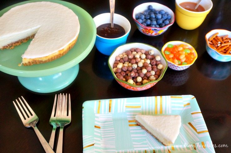 Make everyone happy at dessert time by making a DIY Cheesecake Toppings Bar! Never have to choose between salted caramel or cookies 'n cream again!