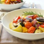 Roasted Vegetables and Cheesy Polenta + FREE Cookbook!