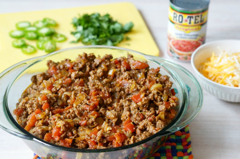 Turn every meal into a fiesta with RO*TEL! You're whole family will love this Ultimate RO*TEL Tamale Pie, layered with cornbread, sausage, RO*TEL and lots and lots of cheese. The perfect dish for your next summer party or potluck.