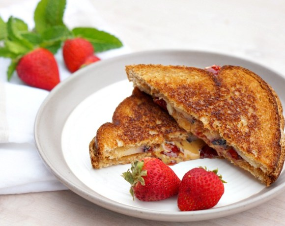 """Our Kitchen Stories Series continues with some Disney Junior fun! Celebrate """"FriYAY"""" mornings this summer with Puppy Dog Pals and this recipe for Bingo and Rolly's Peanut Butter & Jelly Grilled Cheese!"""