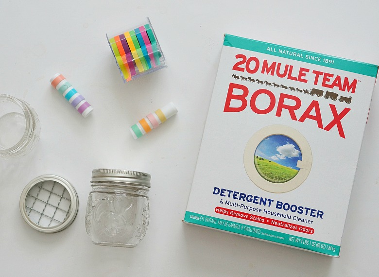 Banish the bad smells and focus on the good with these easy and natural DIY Refrigerator Deodorizers made with Borax.  Perfect to use as a trash can deodorizer, too.