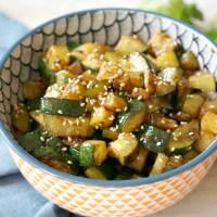 Hibachi-Style Sesame Ginger Zucchini