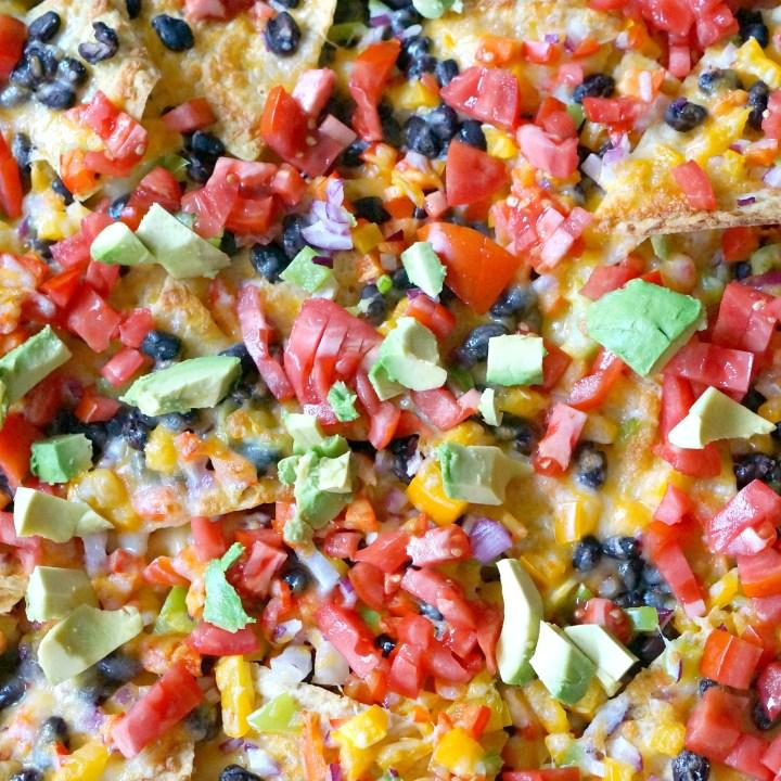 Veggie & Black Bean Sheet Pan Nachos