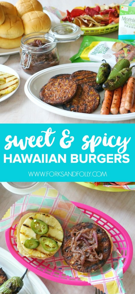 Make the most of fall grilling with these vegetarian Sweet & Spicy Hawaiian Burgers. Robust ingredients and mouth-watering flavors will have meat eaters and vegetarians alike lined up at the grill. Kids, too! Perfect for homegating during football season.