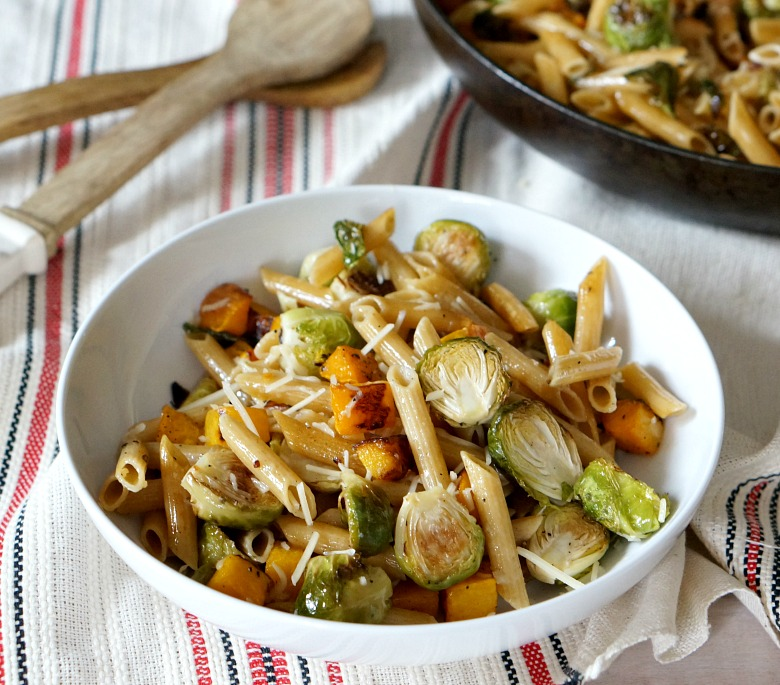 Have your vegetarian dinner and your protein too, with Barilla ProteinPLUS. Brown butter penne with fall veggies is comfort food for fall!