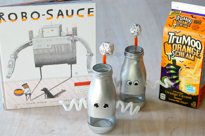 Inspired by Adam Rubin's Robo-Sauce, we're sharing our TOP SECRET FORMULA for Robo-Sauce Milk!  Available for a limited time, be sure to grab TruMoo Orange Scream milk and enjoy with these adorable Robot Mugs!