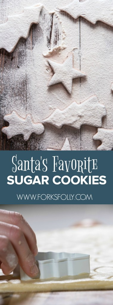 Santa's Favorite Sugar Cookies are a favorite holiday cookie in our house too!  How do we know?  Well, we stay in touch through Santa.com!  Get the recipe, plus deets on how to get emails and text from the man in red!