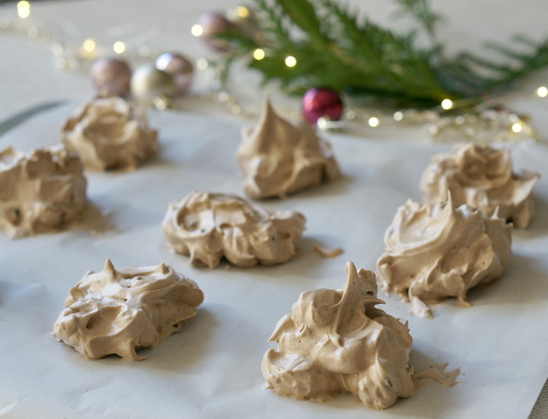 With these Light as Cloud Chocolate Chip Meringue Cookies, your holidays have never been sweeter.  These meringue cookies are the perfect addition to your dessert tray or holiday cookie exchange.