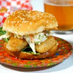 Mouth-on-Fire Spicy Beer Battered Fish Burger