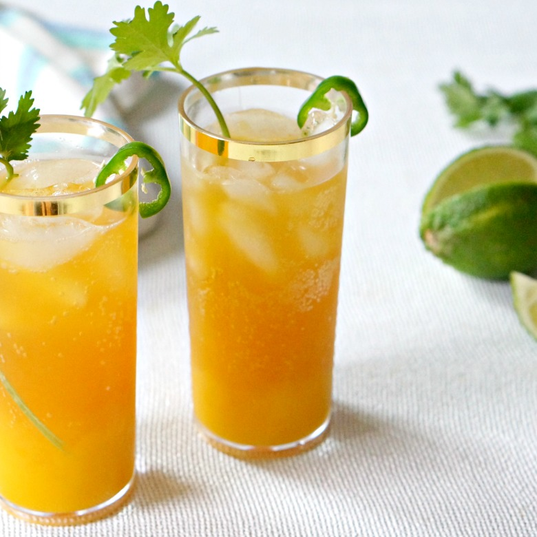 Our Spicy Mango Shandy recipe is a delicious blend of fresh mango, spicy jalapeños and crisp beer.  Great for afternoon sipping and outdoor summer parties.