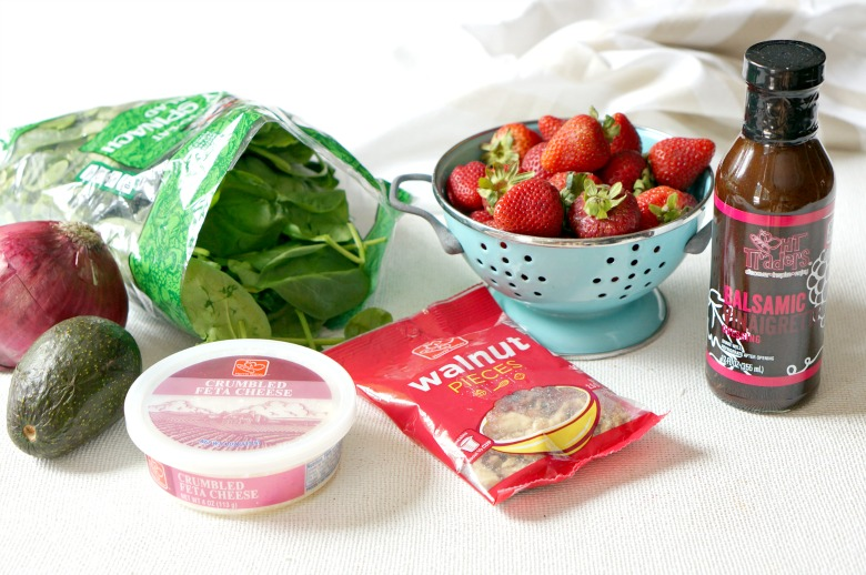 Each ingredient shines in this almost too-pretty-to-eat Strawberry & Avocado Spinach Salad.